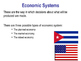 Economic Systems - Planned, Mixed & Free Marked Economies - PPT & Group Task
