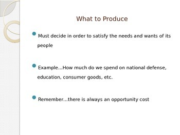 Economic Systems PowerPoint Notes Presentation