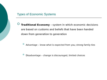 Economic Systems PowerPoint presentation