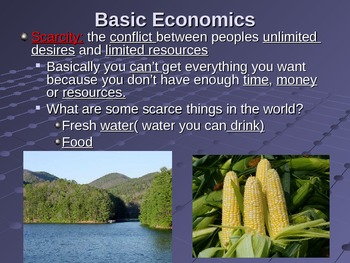 Economic Systems Powerpoint (Optional Cloze Notes)