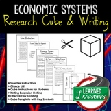 Economic Systems Activity Research Cube with Writing Extension Activity Pack