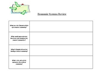 Economic Systems Review Chart