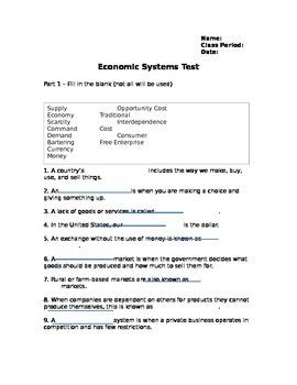 Economic Systems Test