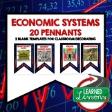 Economic Systems Word Wall Pennants (Economics and Free En