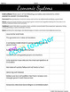 Economic Systems Worksheet (Distance Learning Friendly)