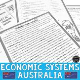 Economic Systems and Australia Reading & Writing Activity (SS6E10, SS6E10a)