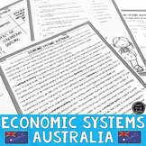 Economic Systems and Australia Reading & Writing Activity