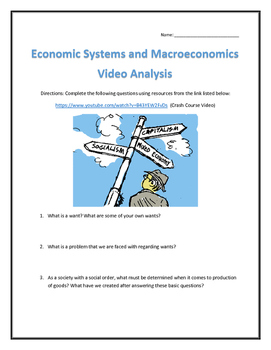 Economic Systems and Macroeconomics- Video Analysis with Key