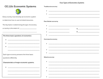 Economic Systems note page (CE.11b)