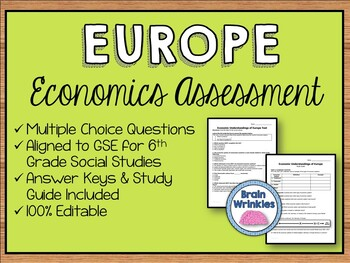 Economic Systems of Europe Assessment (Editable)