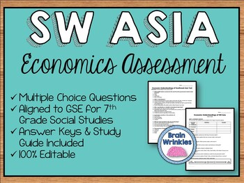 Economic Systems of Southwest Asia Assessment (Editable)