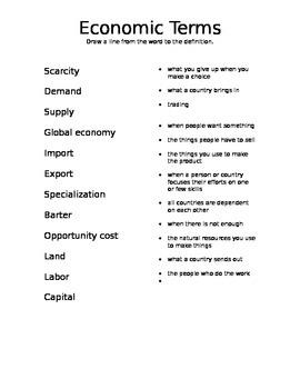 Economic Terms Matching