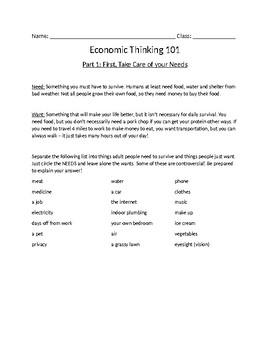Economic Thinking 101