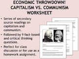 Economic Throwdown! Capitalism vs. Communism worksheet - Global/World History
