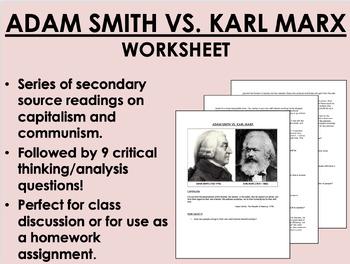 Economic Throwdown! Capitalism vs. Communism worksheet - G