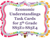 Economic Understandings Task Cards for 5th Grade:  SS5E1,SS5E2,SS5E3,SS5E4