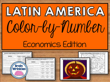 Economic Understandings of Latin America: Color-by-Number (SS6E1, SS6E2, SS6E3)