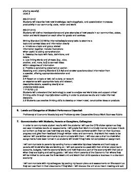 Economic Unit- Common Core Standards