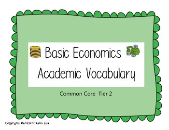 Economic Vocabulary