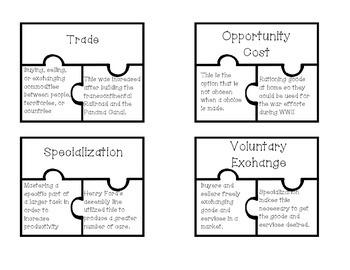 Economic Vocabulary Puzzles