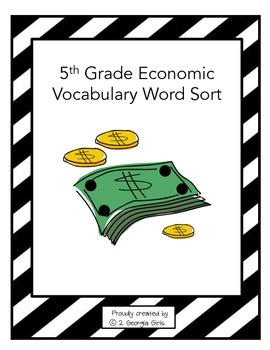 Economic Vocabulary Sort or Matching Game