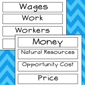 Economic Word Wall Words