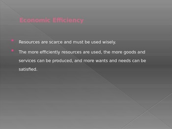 Economic and Social Goals PPT