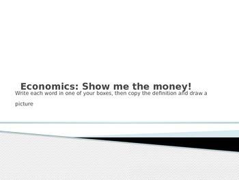 Economic definitions