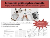 Friedman, Smith and Keynes: Economic philosophy bundle