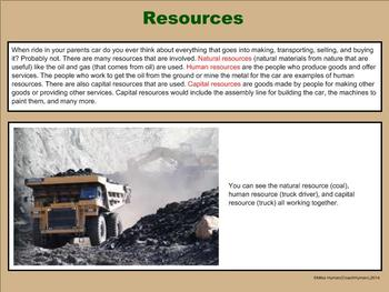Economics - A Third Grade PowerPoint Introduction