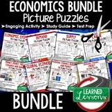Economics Activities Puzzle BUNDLE, Test Prep, Unit Reviews, Study Guides