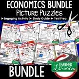 Economics Activities Puzzle BUNDLE, Test Prep, Unit Review