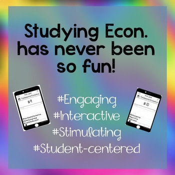 Economics Vocabulary Activity Game - Instagram (Editable Insta-game)