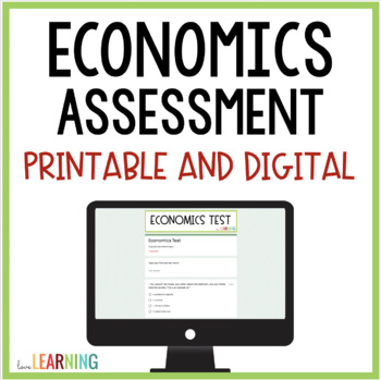 Economics Assessment {4th-6th Grade}