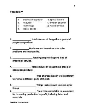 Economics Assessments - 5th Grade Social Studies