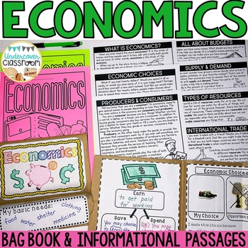 Economics Bag Book & Passages | Economics Interactive Notebook