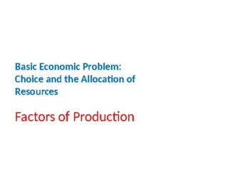 what is the basic economic problem