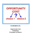 Economics Basics: Budget, Financial Principles, and Opportunity Costs