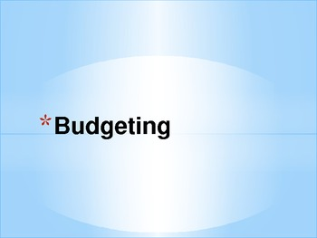 Economics - Budgeting PPT