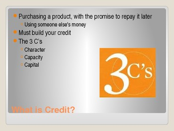 Economics - Budgeting2/Credit