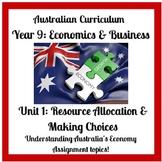 Economics & Business Assignment Tasks (Australian Curricul