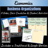 Economics: Business Organization- Simulation, Video, & Activities