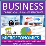 Economics - Business Organizations and Market Structures Bundle High School
