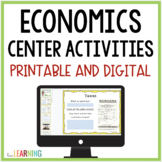 Economics Centers {Two Different Sizes with Student Handout}