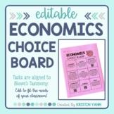 Economics Choice Board - Editable
