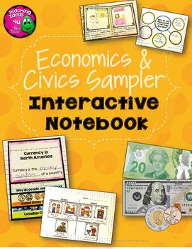 Economics & Civics 3rd Grade Interactive Notebook Sampler FREEBIE