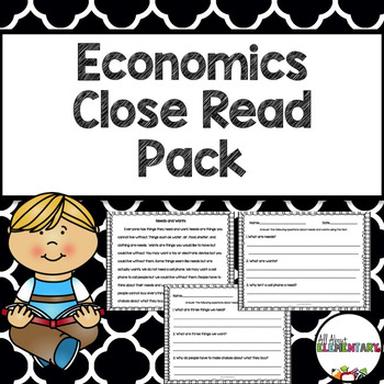 Economics Close Read Pack