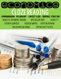 Economics Cloze Reading Activities