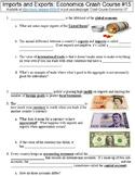 Crash Course Economics #15 (Imports and Exports) worksheet