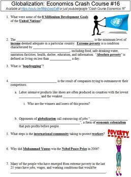 Crash Course Economics #16 (Globalization) worksheet